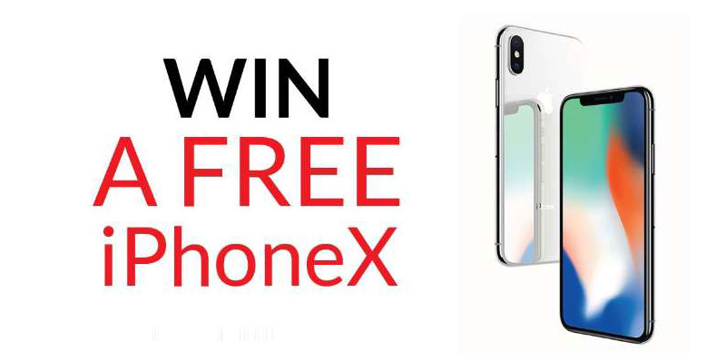 Subscribe to win a free iPhoneX
